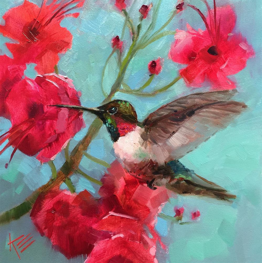 """Garden Zinger"" original fine art by Krista Eaton"