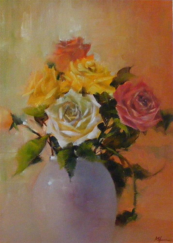 """January Rose"" original fine art by Celine K.  Yong"