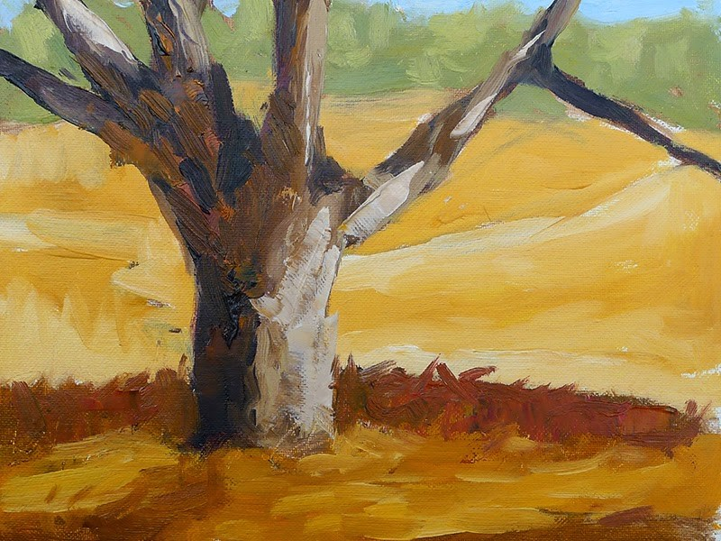 """Hot Tree"" original fine art by Adam Houston"