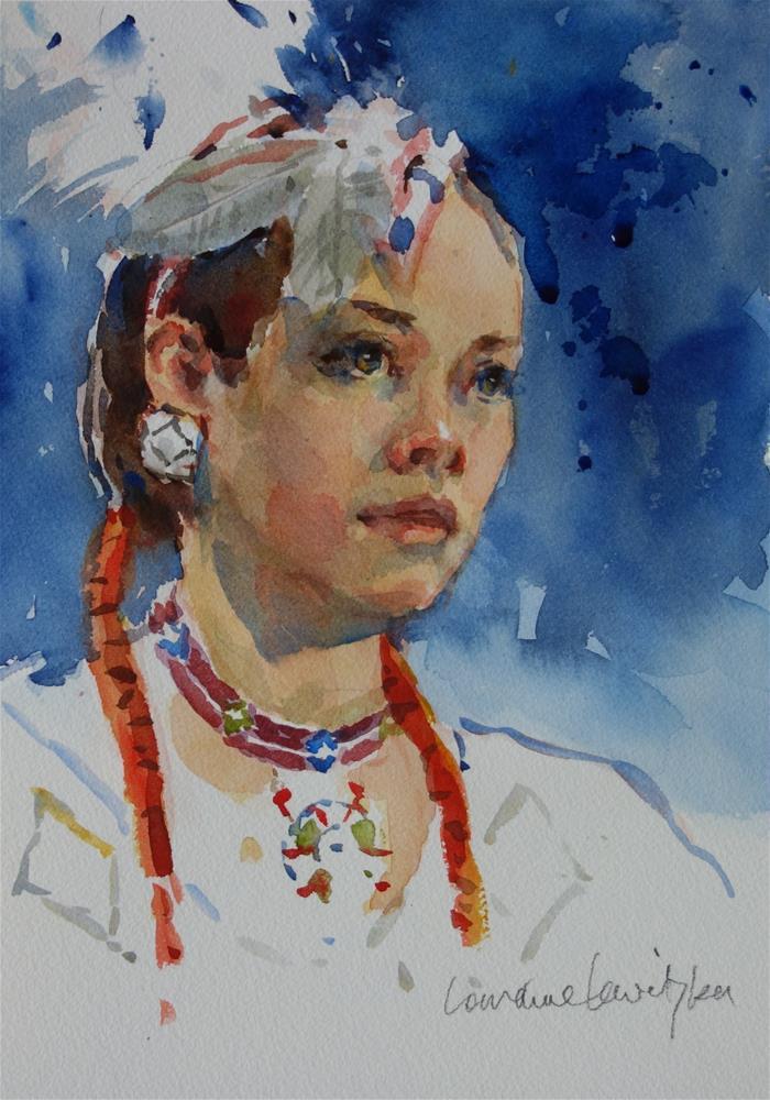 """Native American"" original fine art by Lorraine Lewitzka"