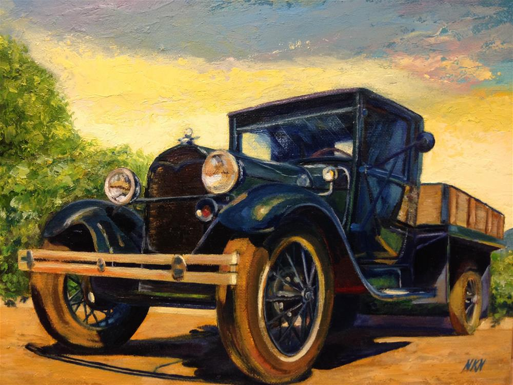 """1928 FORD AA"" original fine art by Nina K. Nuanes"