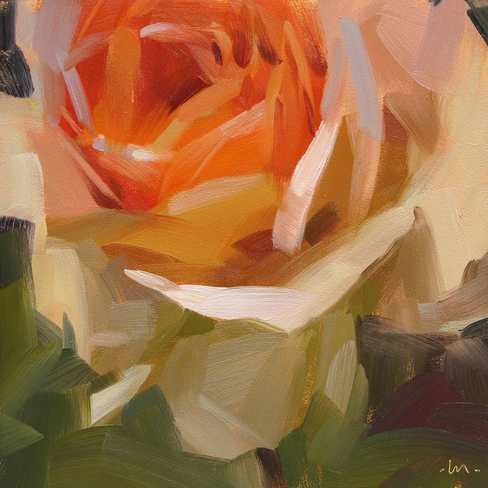 """Rose Glow"" original fine art by Carol Marine"