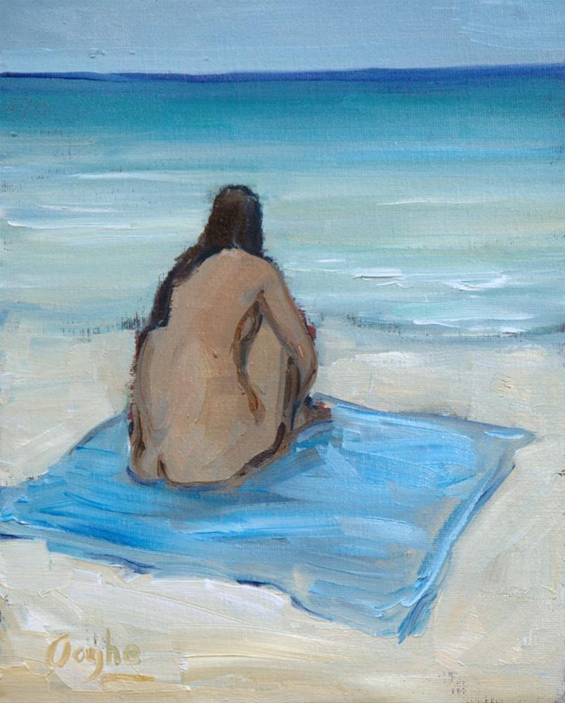 """Nude on Beach"" original fine art by Angela Ooghe"