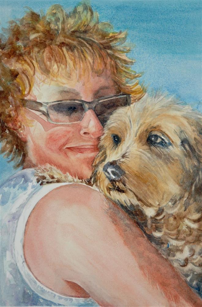 """""""A Girl's Best Friend"""" original fine art by Diane Fujimoto"""