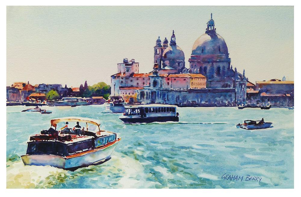 """Venetian traffic."" original fine art by Graham Berry"