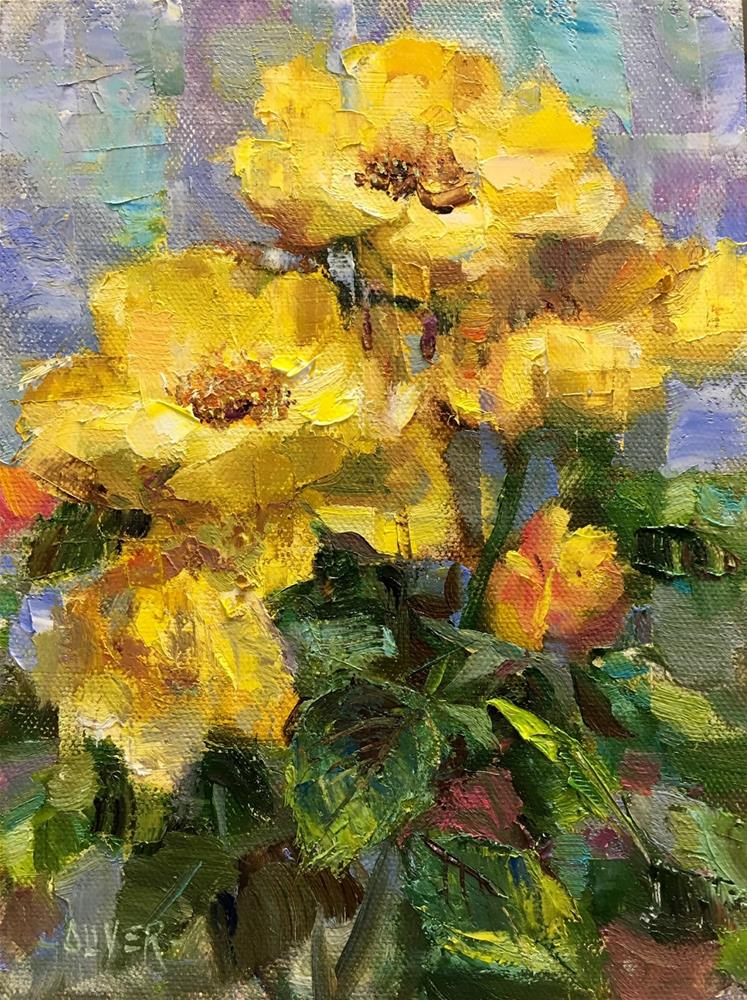 """The Other Yellow Roses"" original fine art by Julie Ford Oliver"