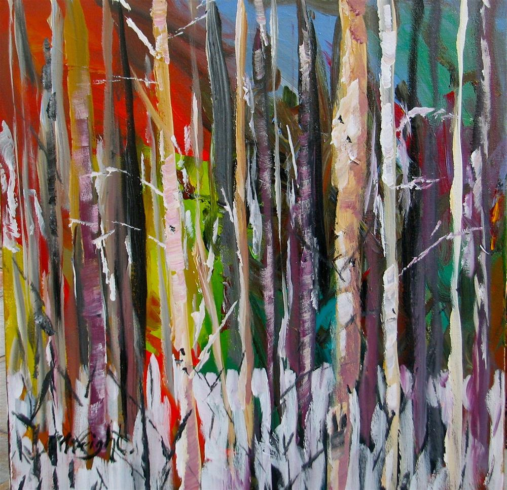 """Birch Babies"" original fine art by Molly Wright"