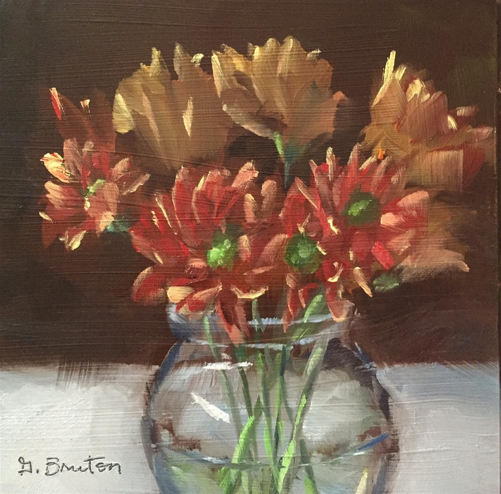 """Fall Daisies"" original fine art by Gary Bruton"
