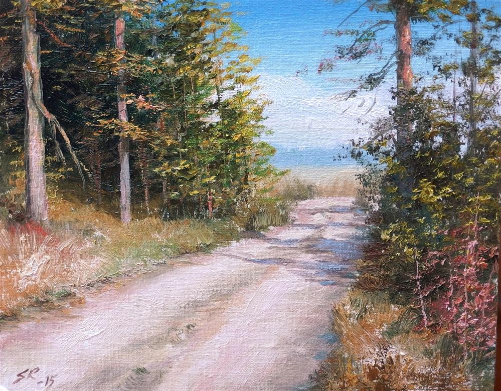 """Old country road"" original fine art by Stig Rosenlund"