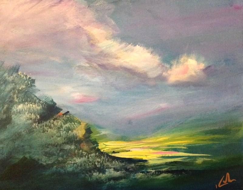 """This Wide Quietness"" original fine art by David Kuhn"