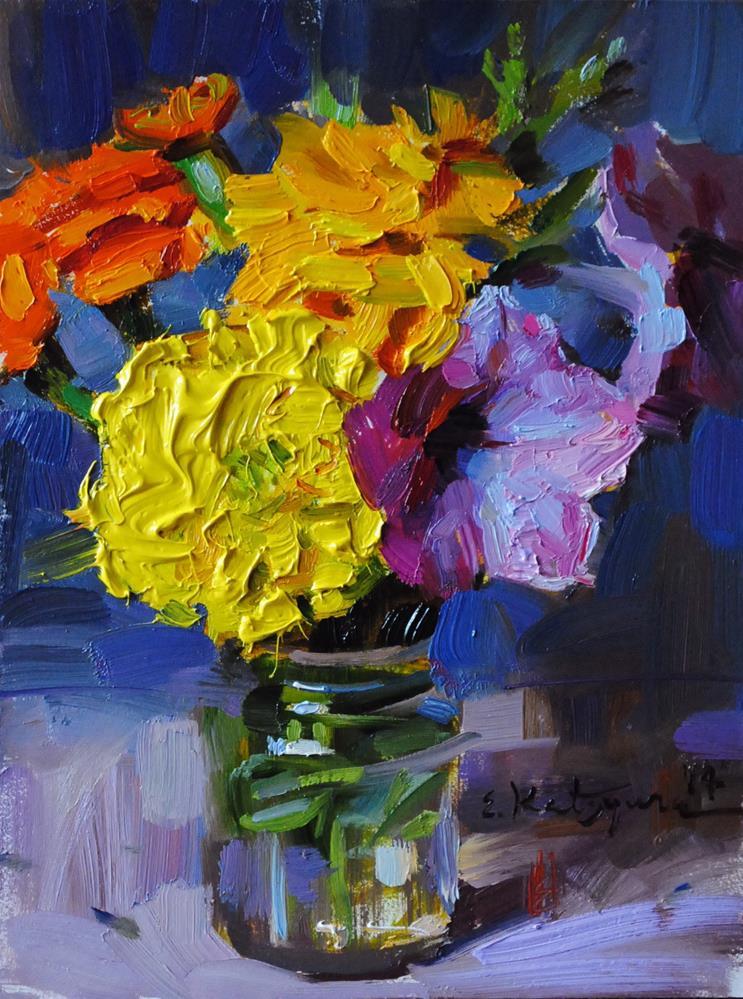 """Flowers From My Garden"" original fine art by Elena Katsyura"