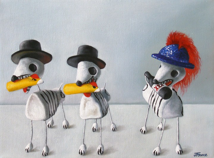 """One of These Is Not Like the  Others"" original fine art by Jelaine Faunce"