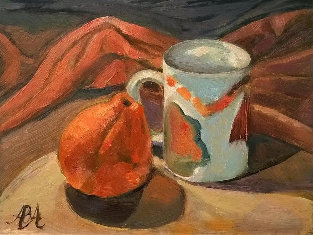 """""""Tangerine Sunset"""" original fine art by Adriana B. Almquist"""