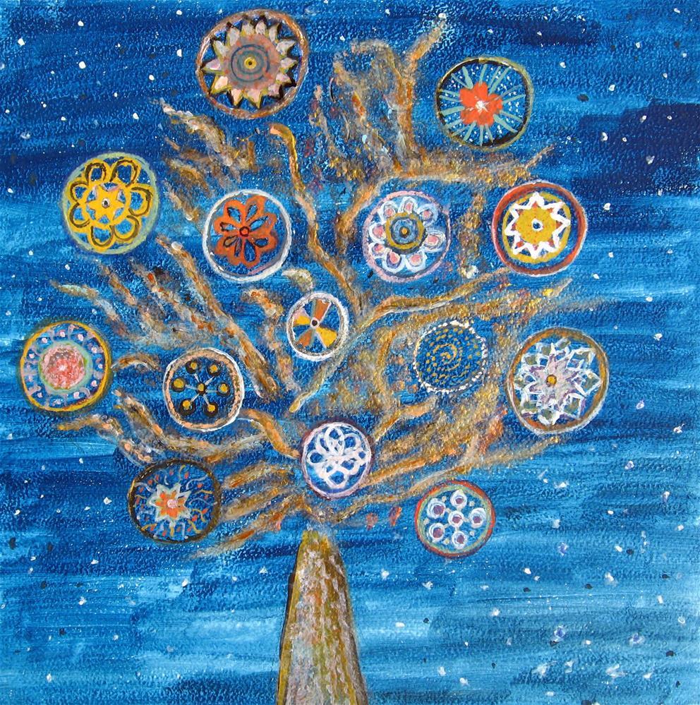 """Happy Tree"" original fine art by Alina Frent"