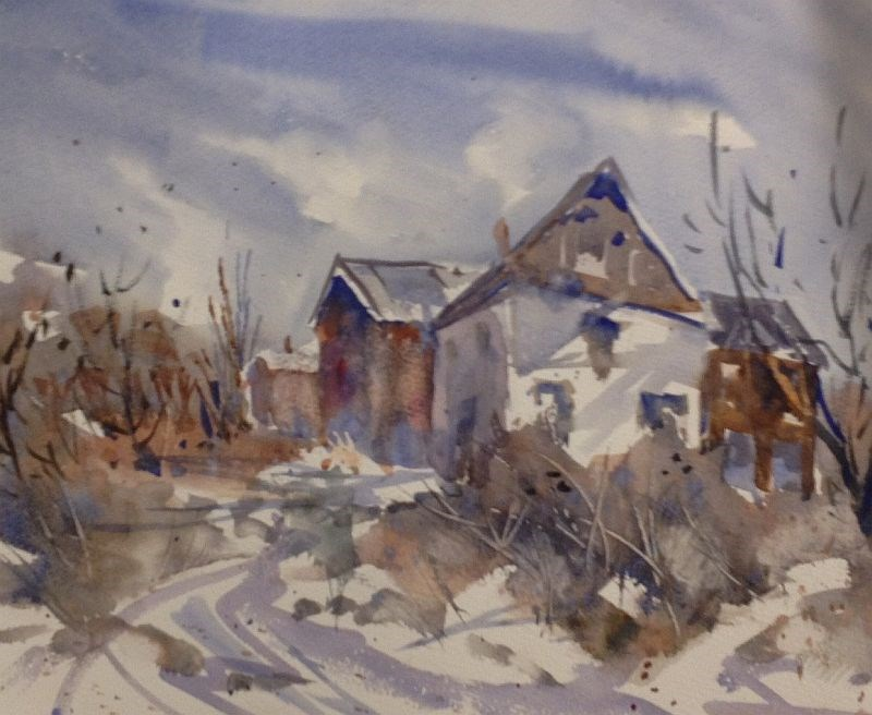 """Winter Blues ... and Browns"" original fine art by David Finnell"