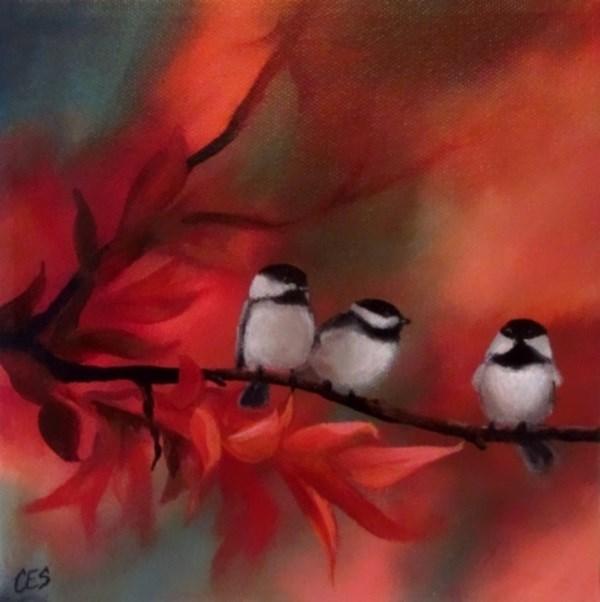 """Autumn Lineup"" original fine art by ~ces~ Christine E. S. Code"
