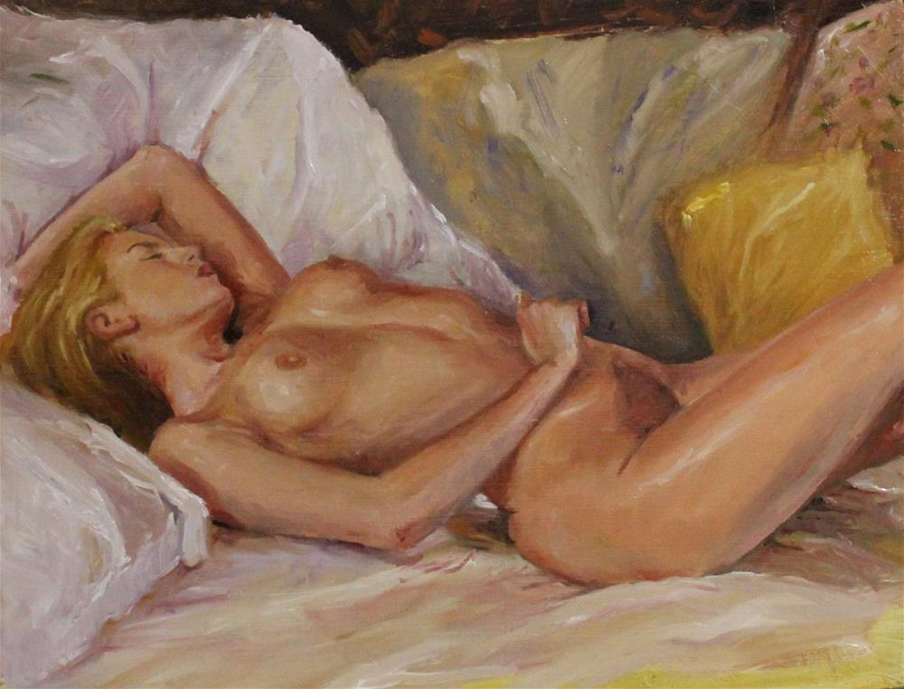 """Pillows all around"" original fine art by Marco Vazquez"