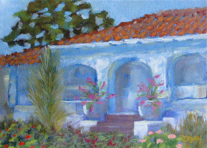 """Shady Arches"" original fine art by Dalan Wells"