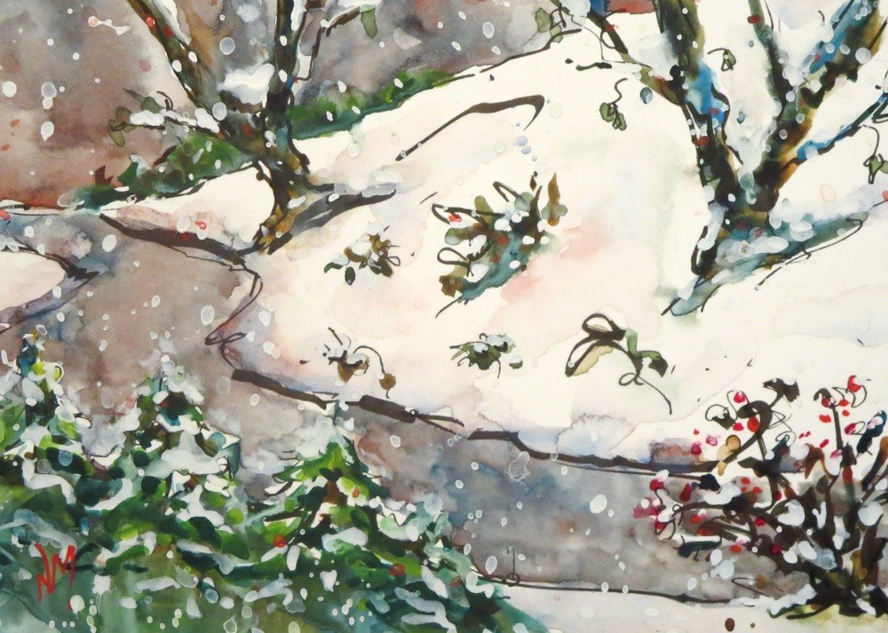 """snow song"" original fine art by Nora MacPhail"