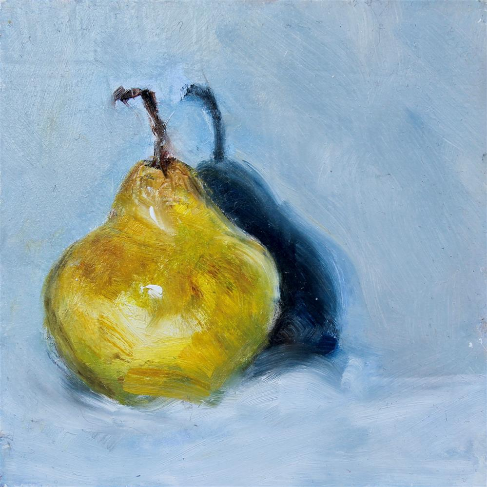 """The Last Pear"" original fine art by Karen Solorzano"