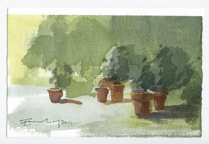 """""""garden 7"""" original fine art by Emilio López"""