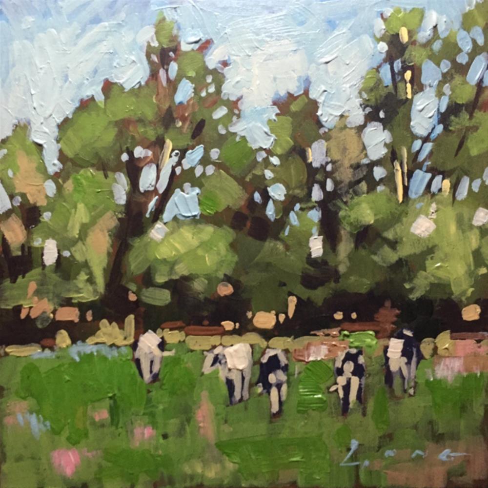 """Elizabethtown Cows"" original fine art by Chris Long"
