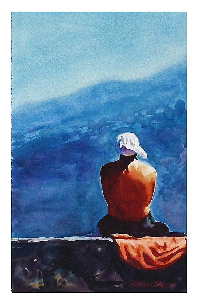 """Catching the rays."" original fine art by Graham Berry"