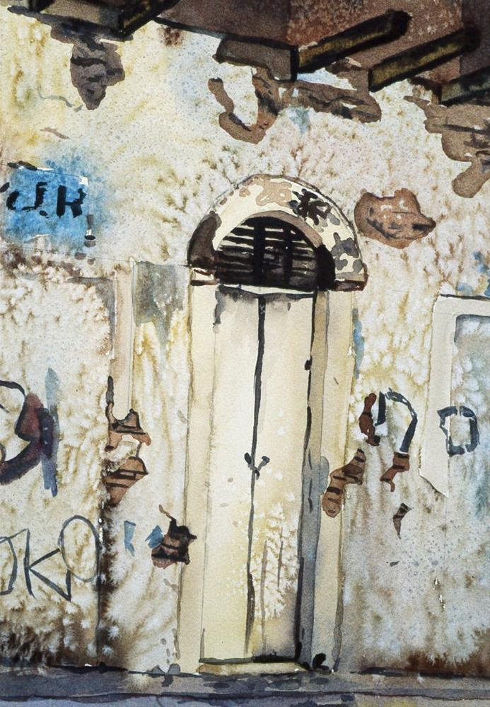"""Doorway Old San Juan"" original fine art by Carol Cochran"