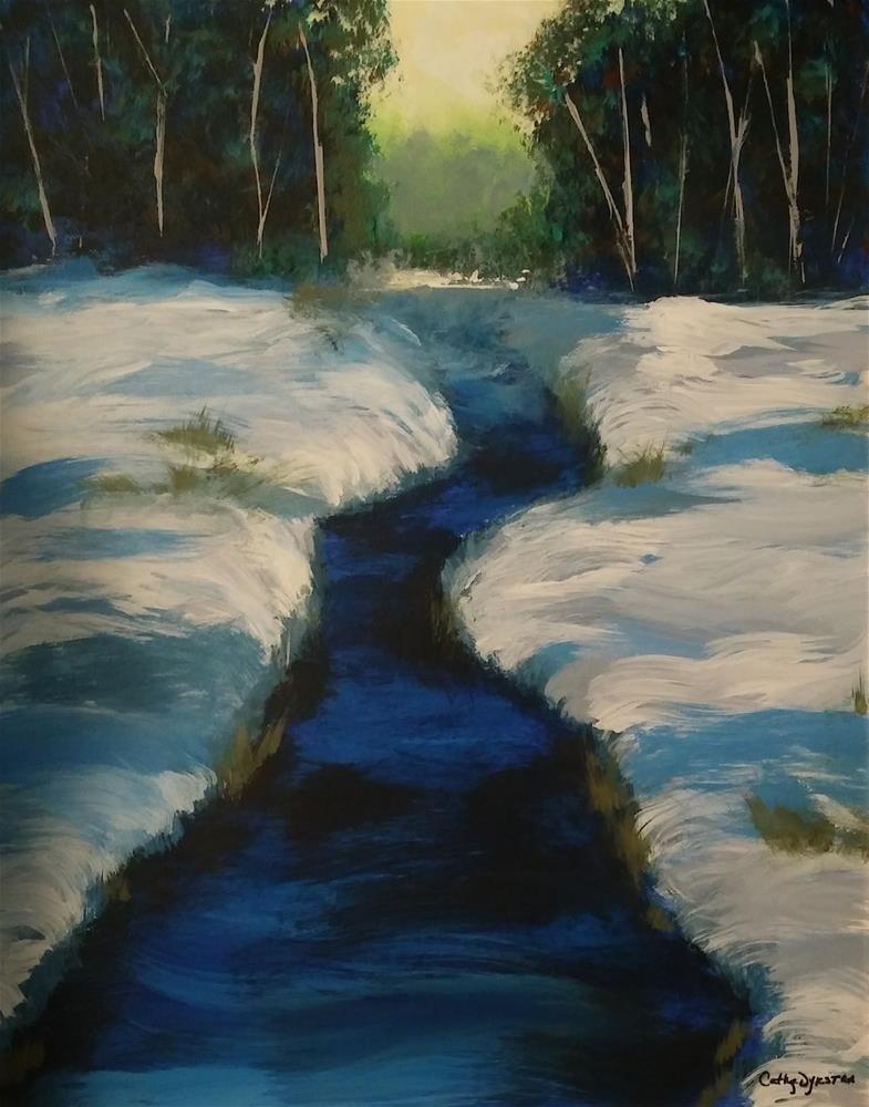 """Cool Stream"" original fine art by Cathy Dykstra"