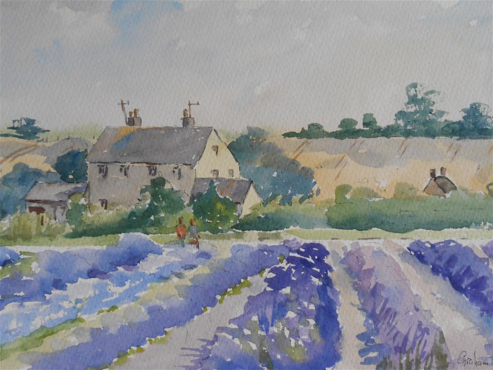 """Last of the lavender"" original fine art by Graham Findlay"