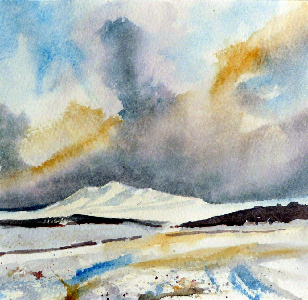 """Beacons in the Snow"" original fine art by Peter Wellington"