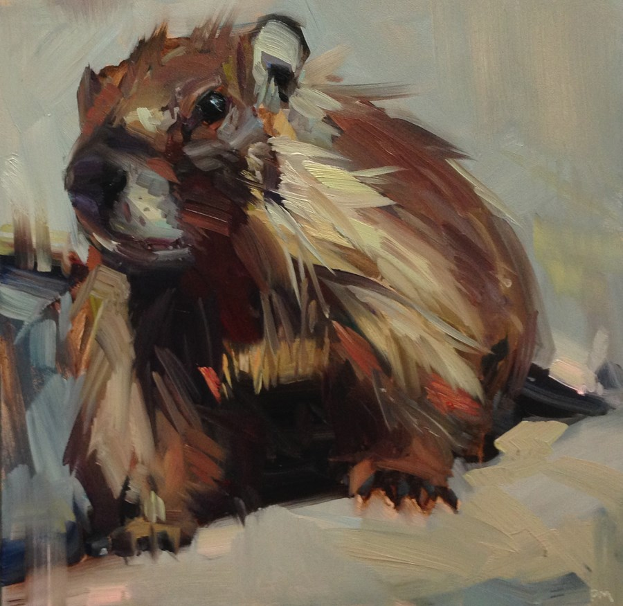 """The Tale of Marmot Whitney"" original fine art by Patti McNutt"