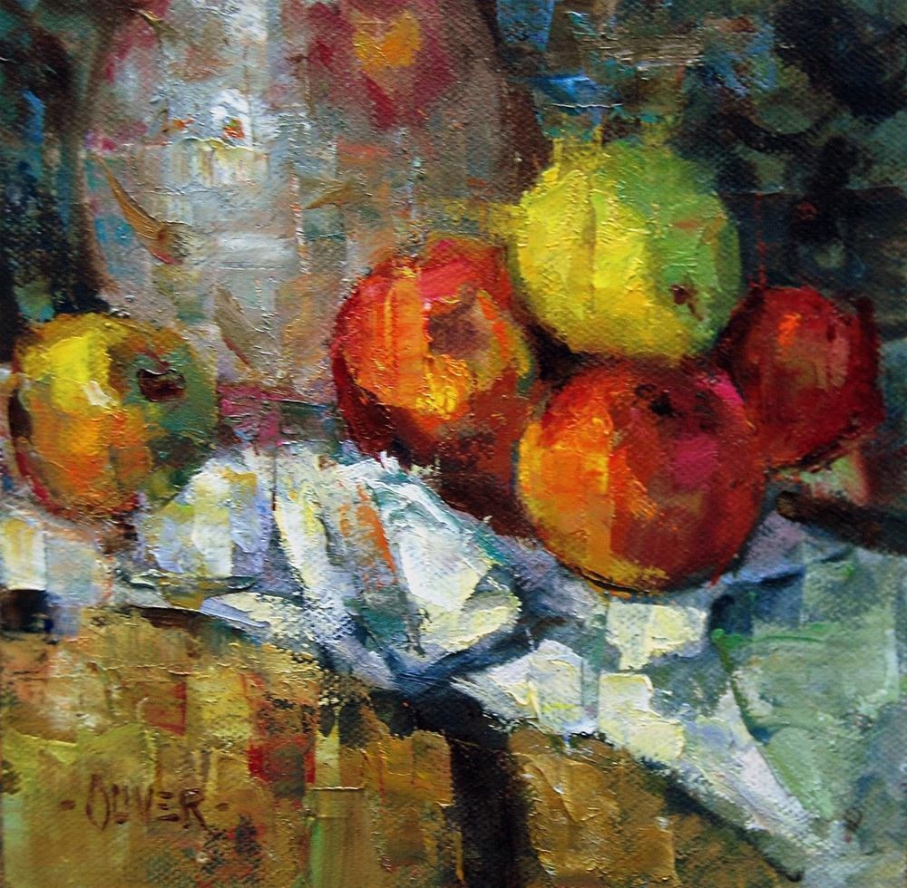 """Fracturing  a Little Part of a Cezanne"" original fine art by Julie Ford Oliver"