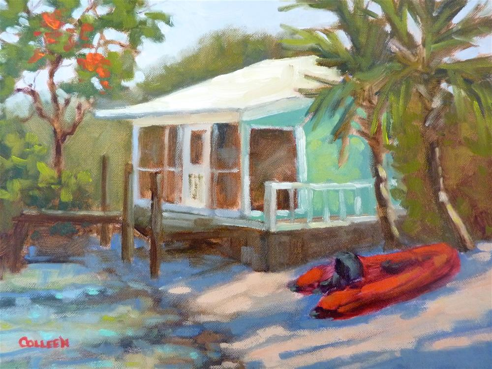 """Beach House"" original fine art by Colleen Parker"