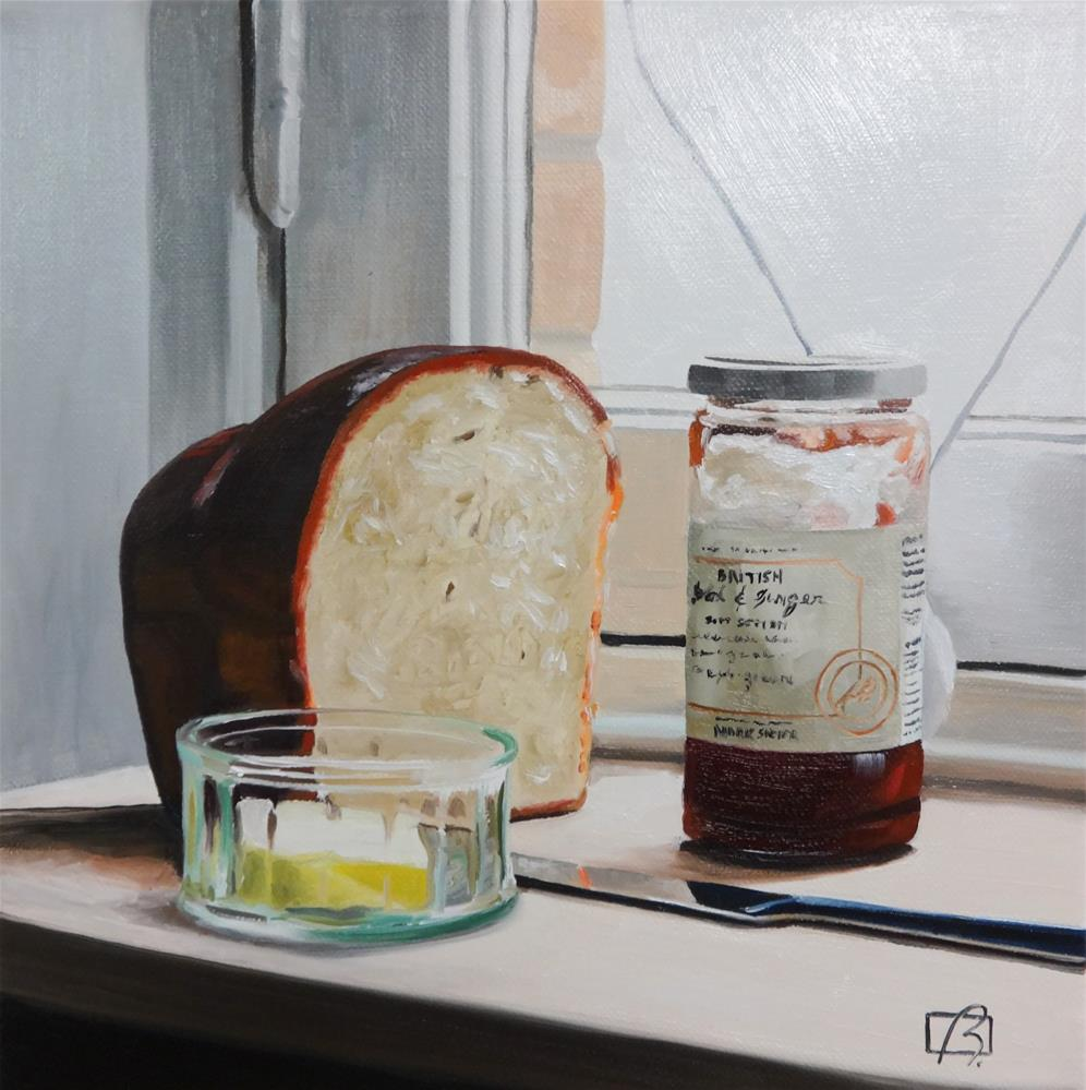 """Bread and Jam for Francis"" original fine art by Andre Beaulieu"