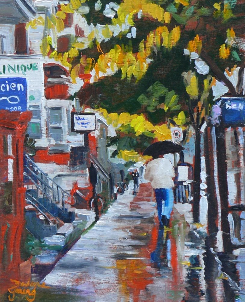 """552 Av du Parc"" original fine art by Darlene Young"