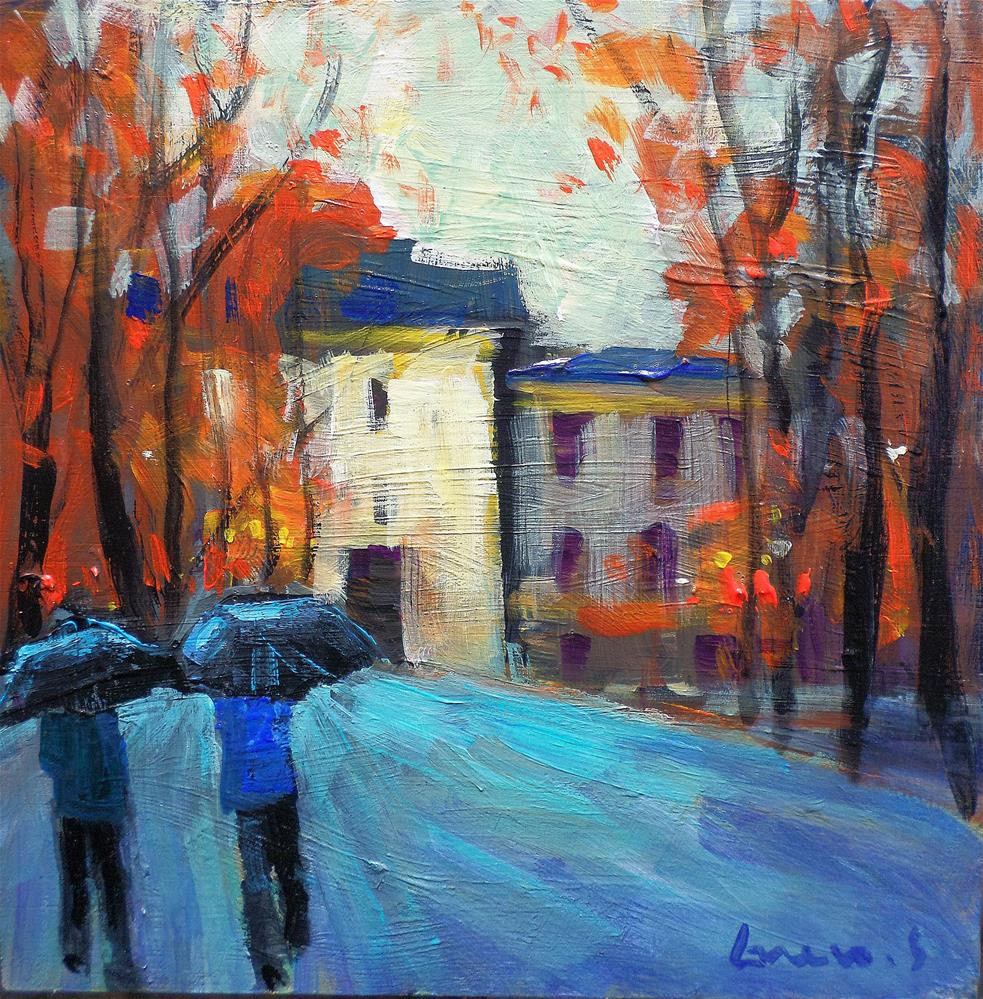 """promenade a paris"" original fine art by salvatore greco"
