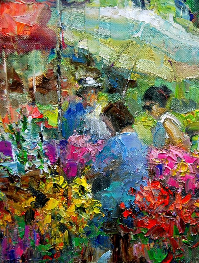 """Farmers Market # 22"" original fine art by Julie Ford Oliver"
