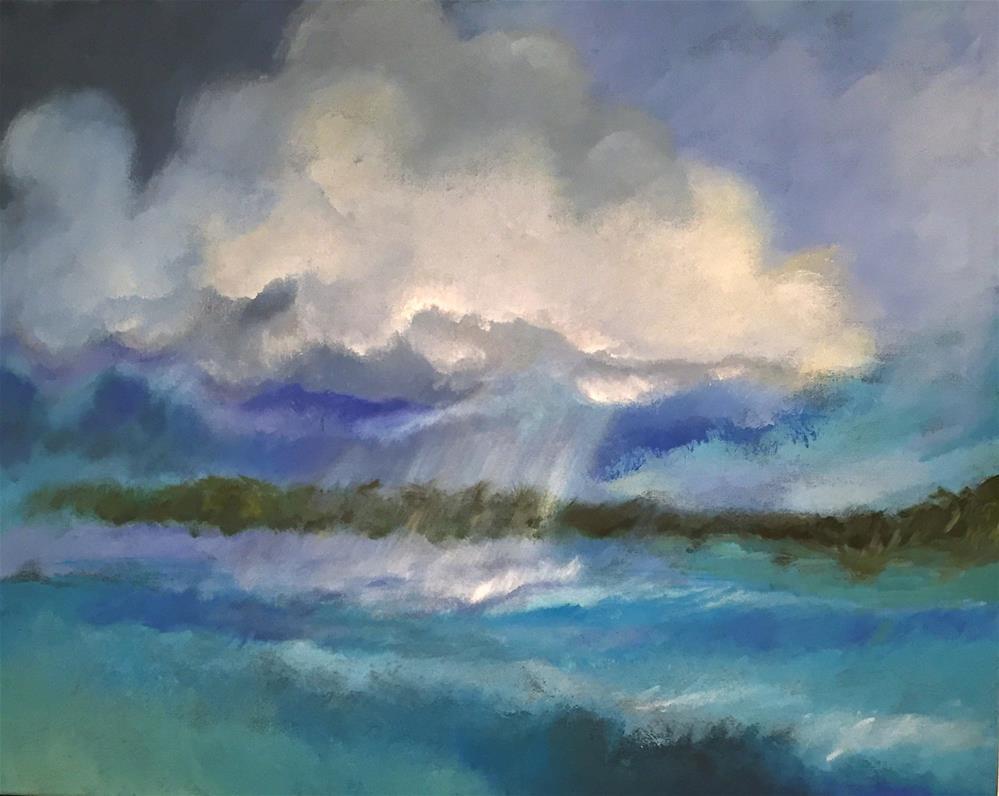 """Storm on the Water "" original fine art by Bonnie Masdeu"