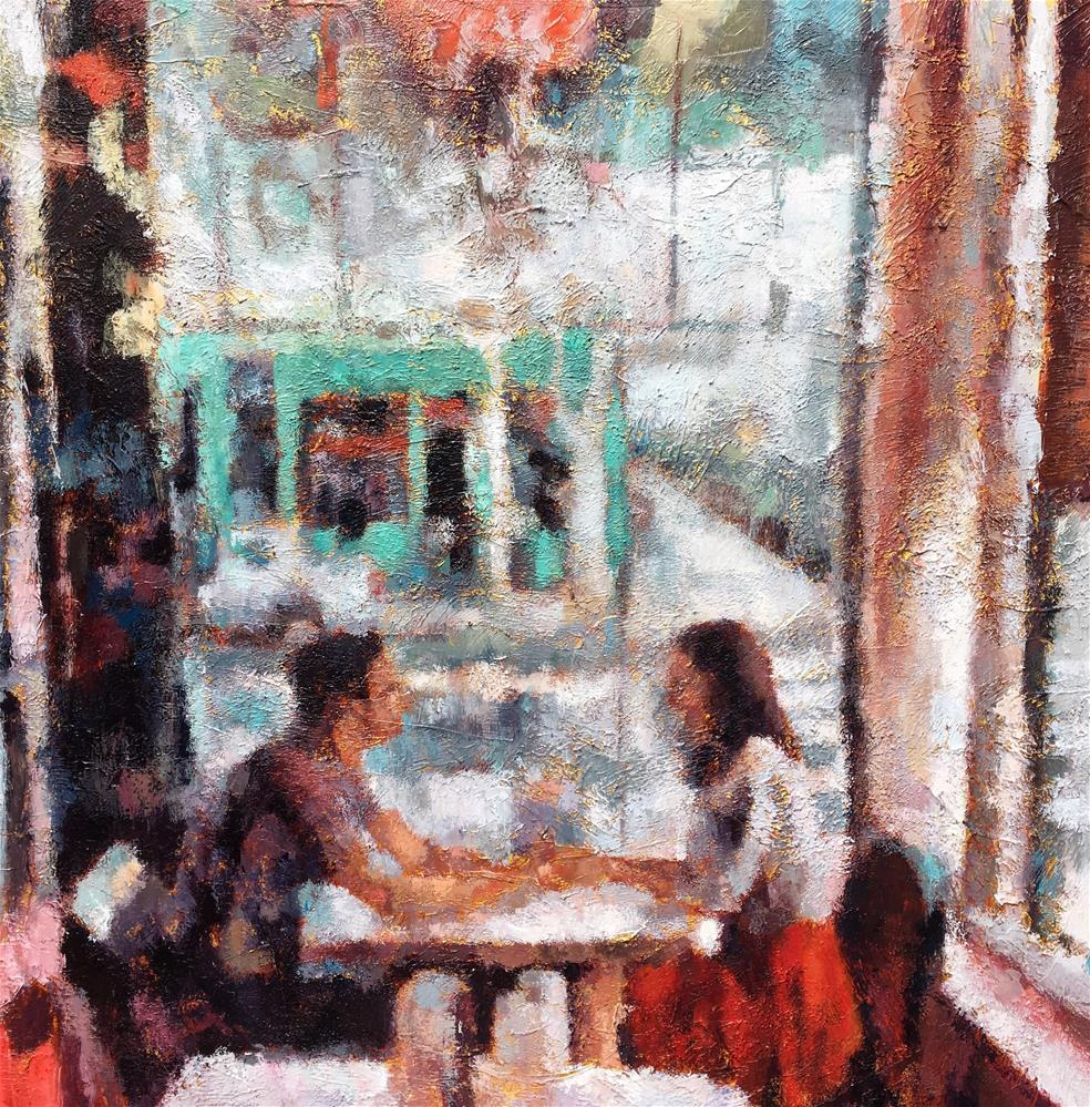 """Our Table"" original fine art by Nava Judith"