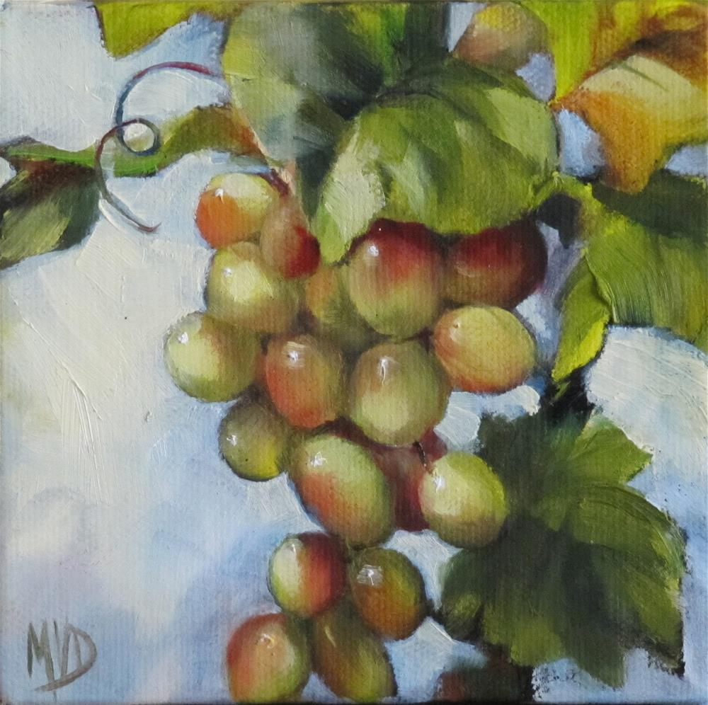 """Chablis Blanc"" original fine art by Mary Van Deman"