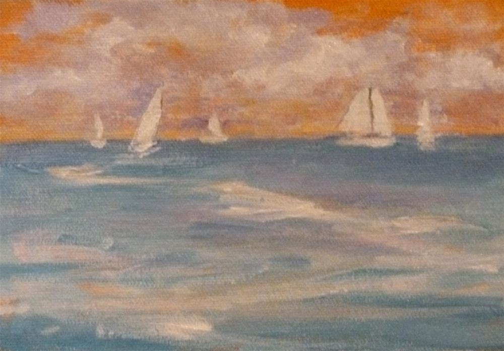 """Sailing Day"" original fine art by Jo-Ann Sanborn"