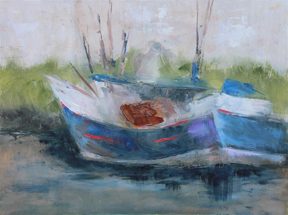 """""""Bayou Boat"""" original fine art by Karen Solorzano"""