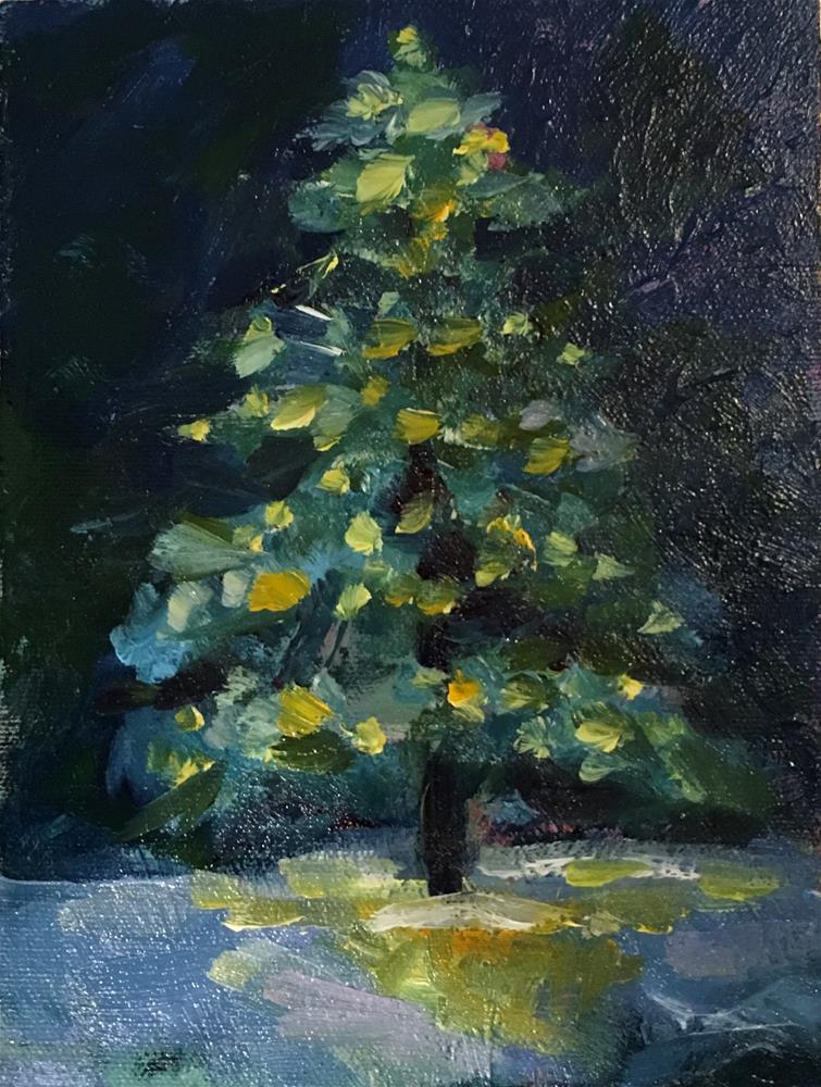 """Tannenbaum"" original fine art by Marcia Bergtholdt"