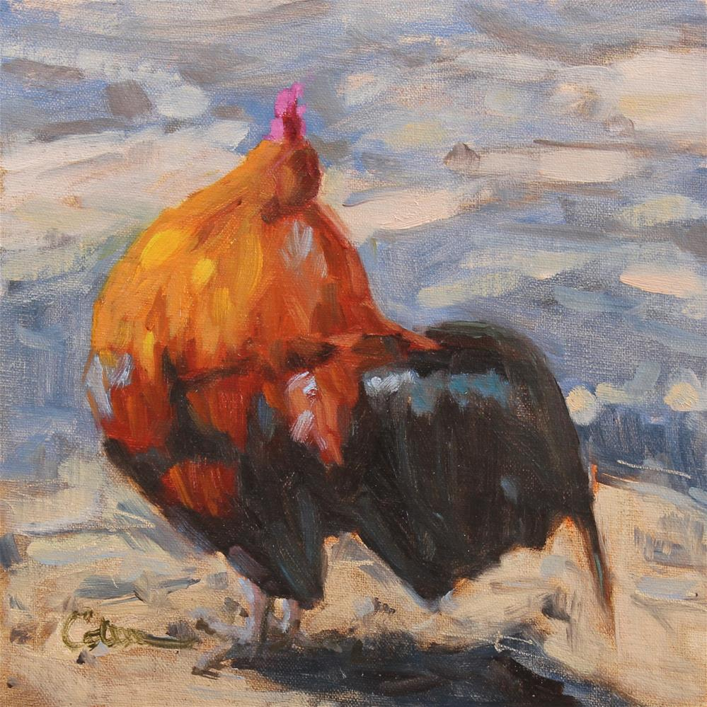 """""""Backyard Buddy"""" original fine art by Colleen Parker"""