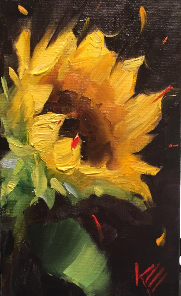 """Sunflower Sketch"" original fine art by Krista Eaton"
