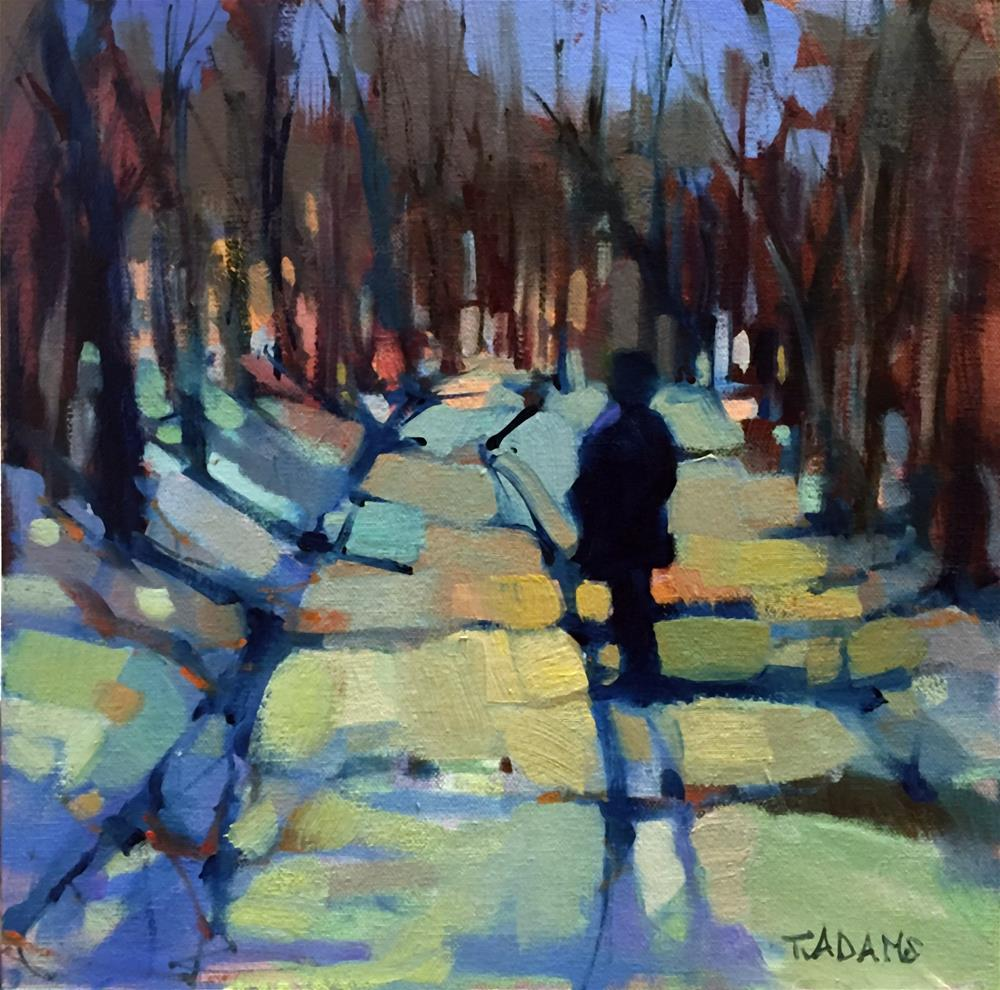"""A Walk in the Woods"" original fine art by Trisha Adams"