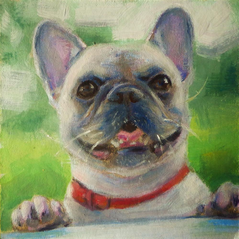 """Bulldog"" original fine art by Maria Z."