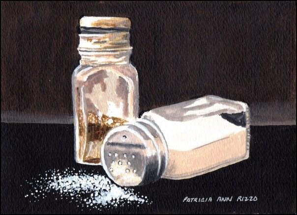 """Salt and Pepper"" original fine art by Patricia Ann Rizzo"