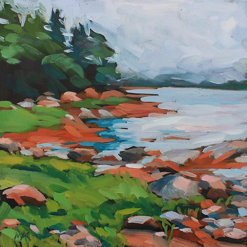 """Foggy Day Deer Isle"" original fine art by Mary Anne Cary"